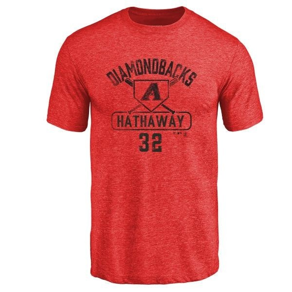 Arizona Diamondbacks Steve Hathaway Men's Base Runner Tri-Blend T-Shirt - Red