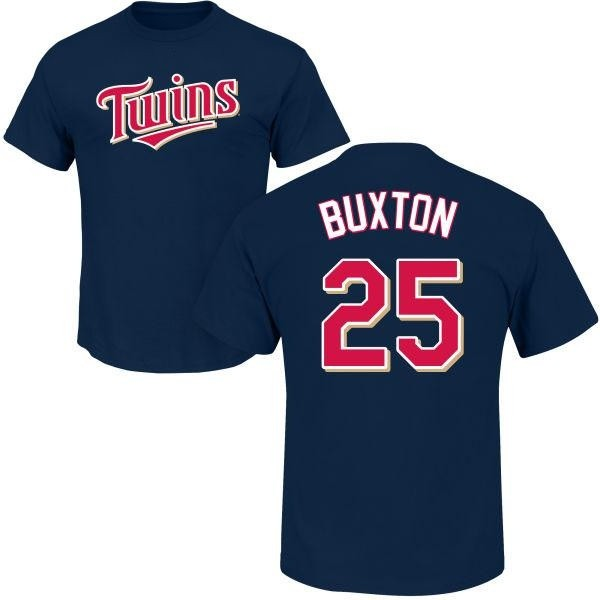 Minnesota Twins Byron Buxton Youth Roster Name & Number T-Shirt - Navy